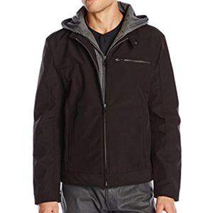 Kenneth Cole Reaction Jacket Jersey Hood Black XL